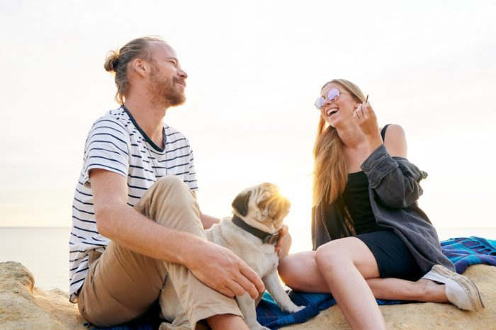 weed is dangerous notion questioned by happy healthy couple smoking