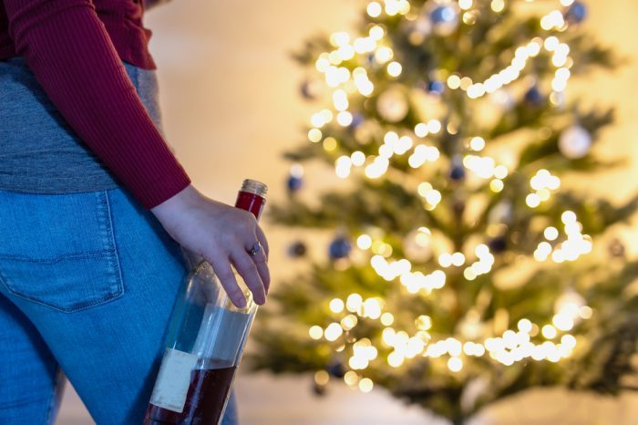 MGBA damage due to alcohol bottle symbolizing heavy drinking