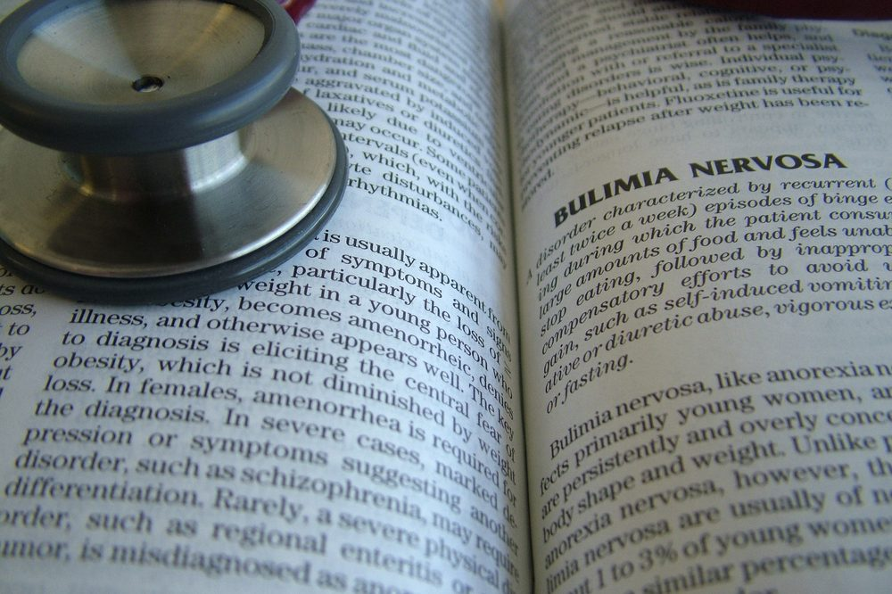 anorexia vs bulemia represented by bulemia in medical dictionary