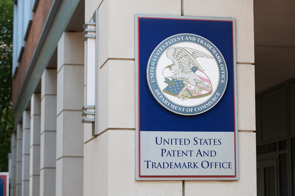 can you patent a plant represented by US patent office outside picture