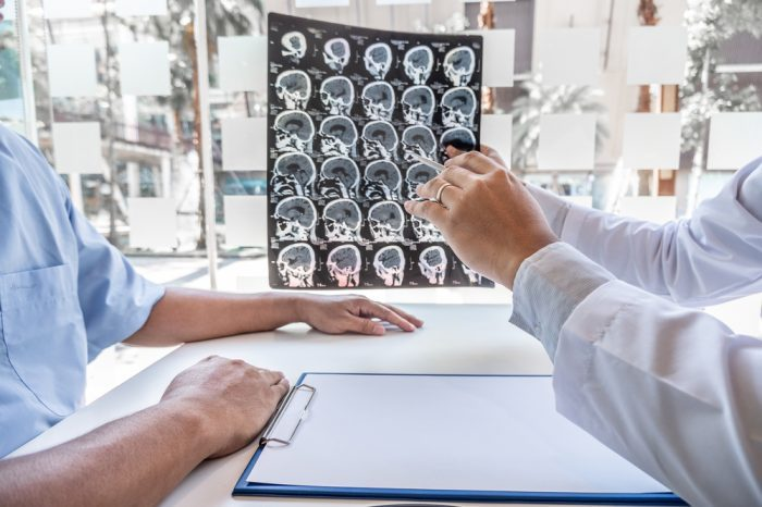 tumor treatment with THC oil could be what this doctor is talking about with a patient over MRI results