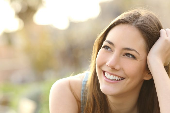 human cbd receptors helping young white girl to relax and smile