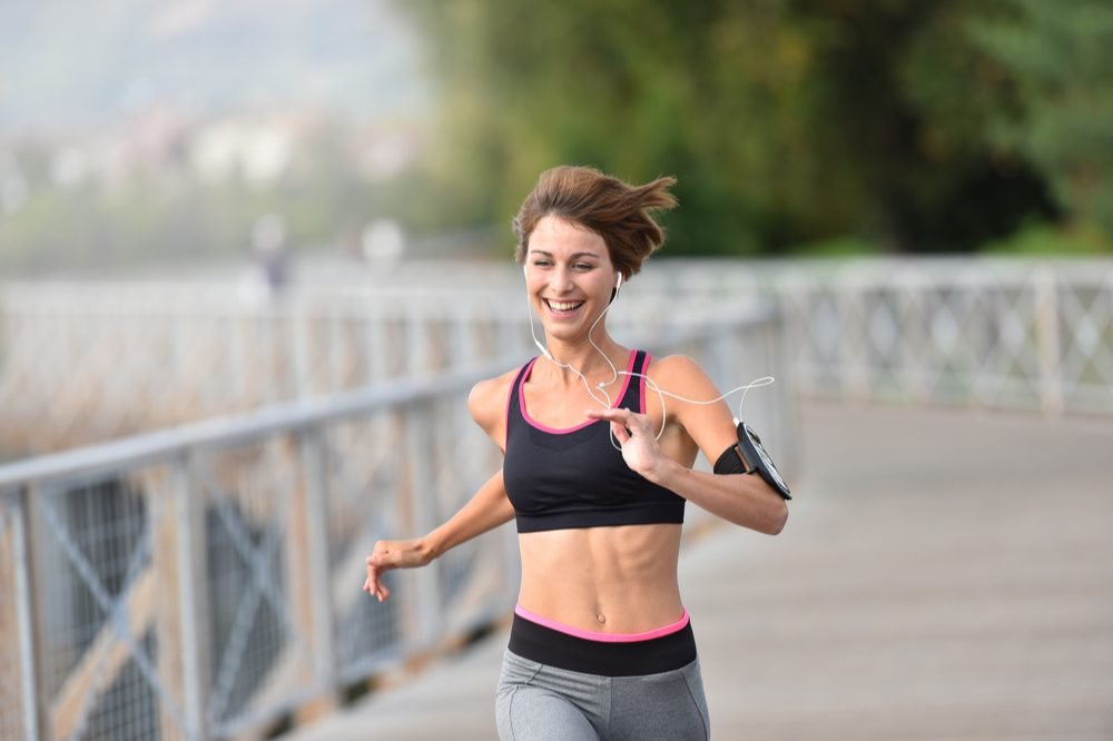 delta 8 thc making this woman euphoric as she goes for a run