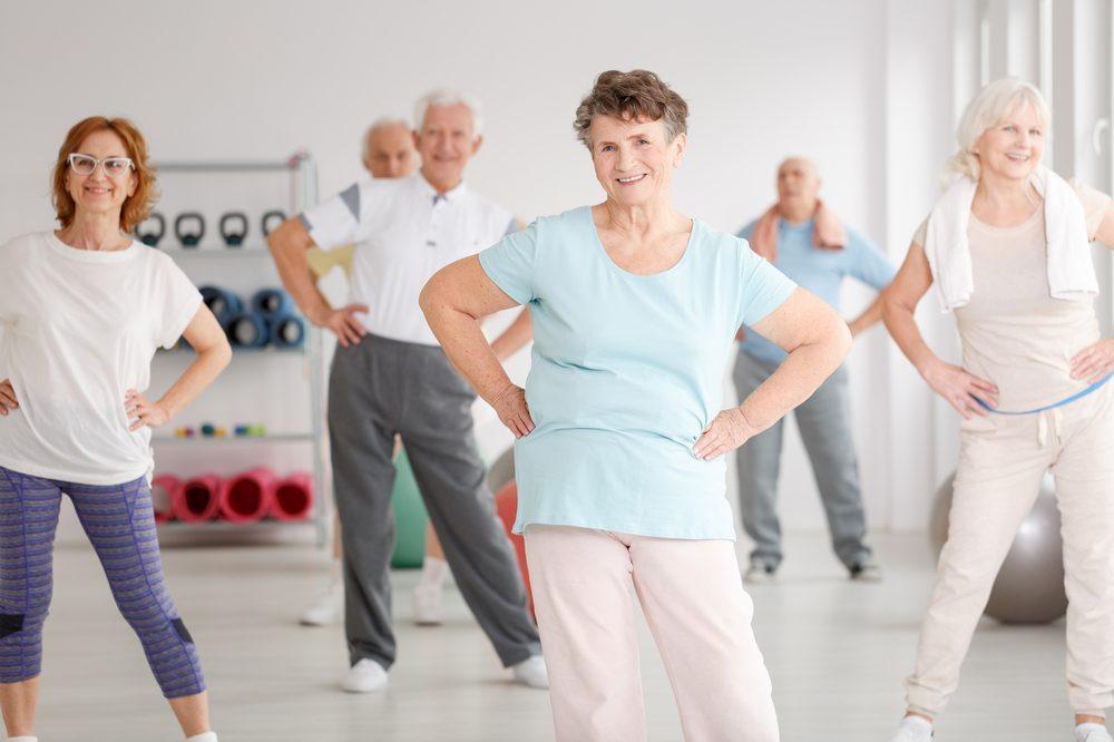 older adults in aerobics class