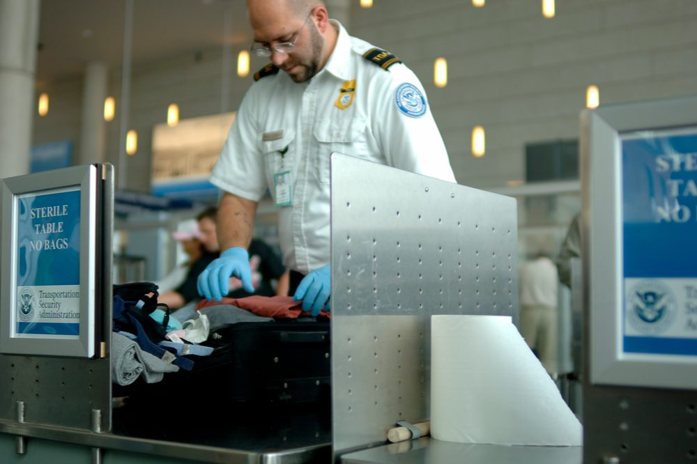 Can I Travel with Medical Cannabis might be what you would want to ask this TSA agent searching a bag