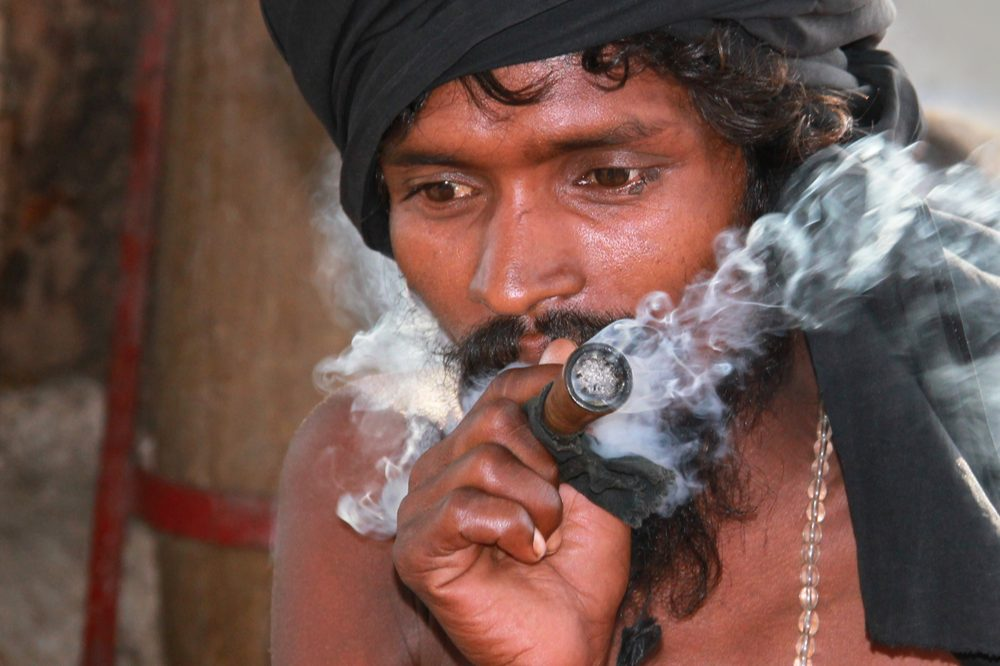 The ancient history of cannabis shows that the plant was popular with many, like this Indian smoking a pipe, for thousands of years before being banned