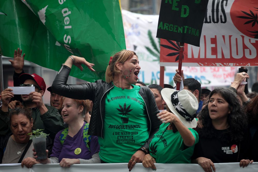 cannabis reparations demanded in protest my young south american crowd