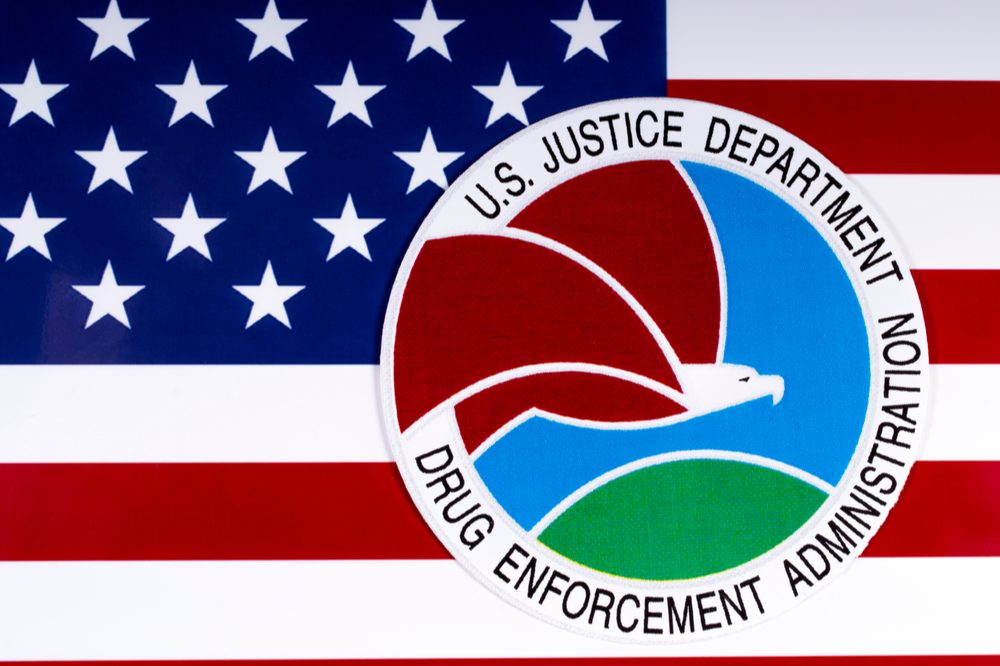 The DEA logo. Growing hemp for CBD is something the DEA closely monitors