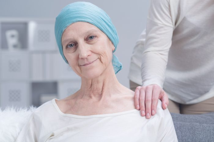 human coronavirus treatment represented by older white female cancer patient