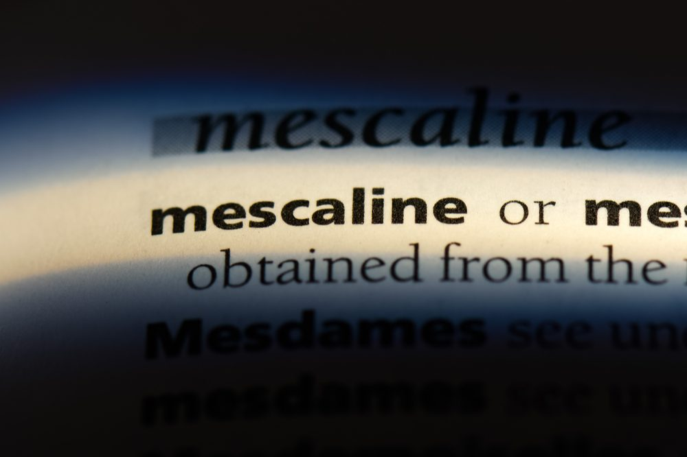 "A dictionary entry of the word ""mescaline"" which is the active ingredient in peyote"