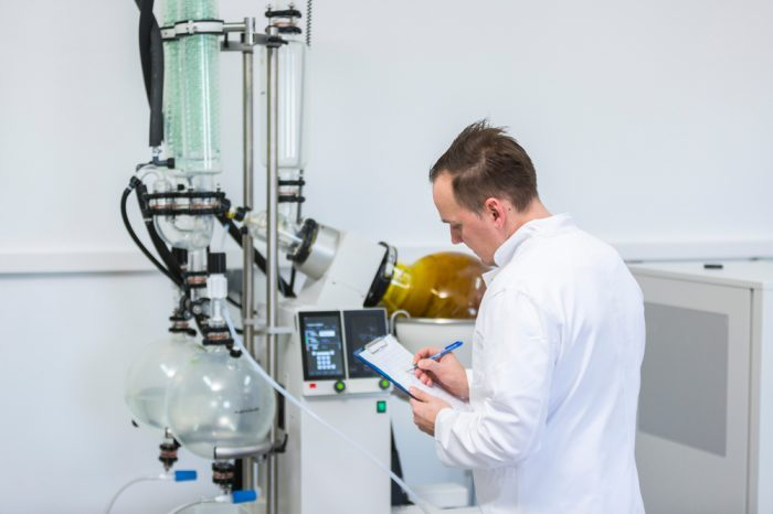 pharmaceutical cbd being created by scientist