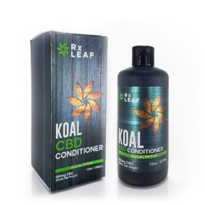 CBD Conditioner bottle and box for Rxleaf