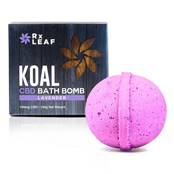 Koal CBD bath bomb lavender scent