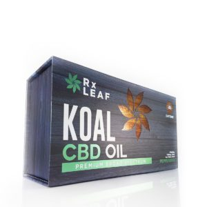 CBD oil double bottle box by RxLeaf