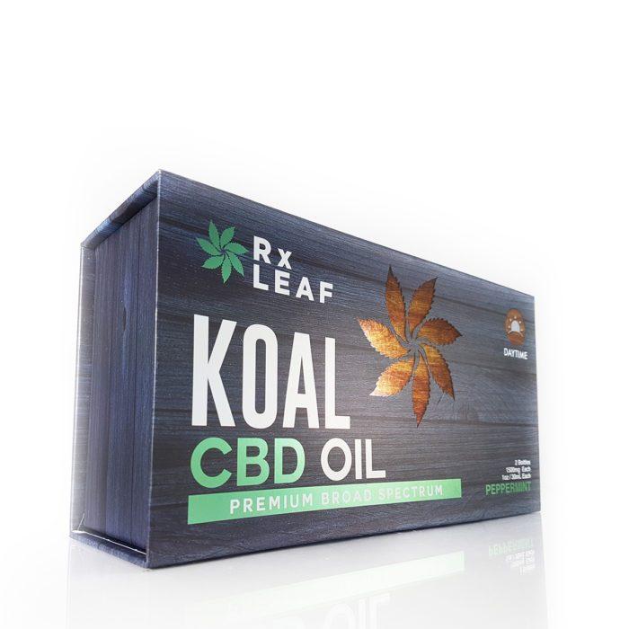 CBD oil double bottle box by RxLeaf