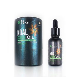 CBD Oil box and bottle by RxLeaf