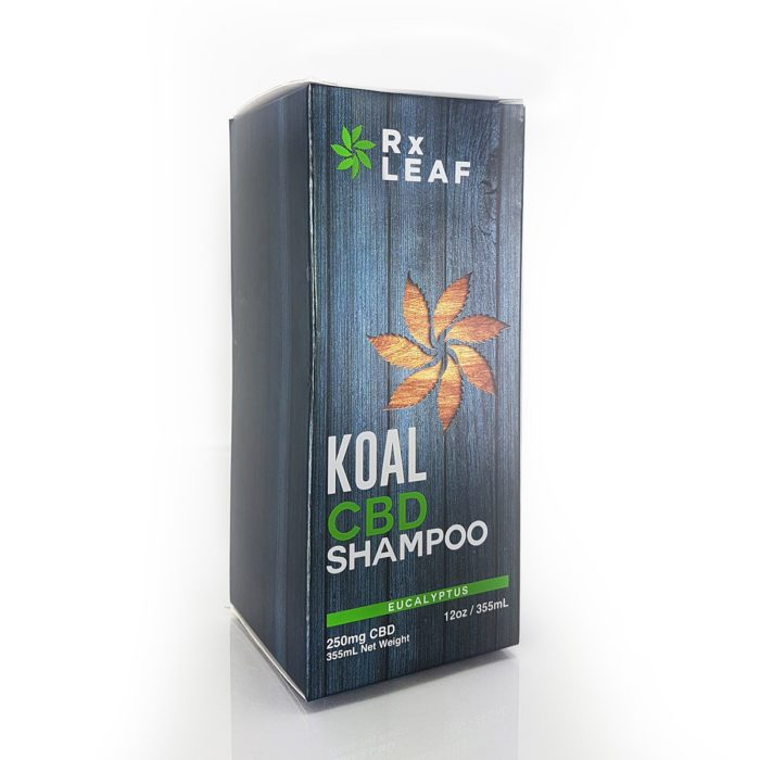 CBD shampoo by RxLeaf box