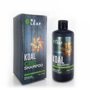CBD shampoo by RxLeaf bottle and box