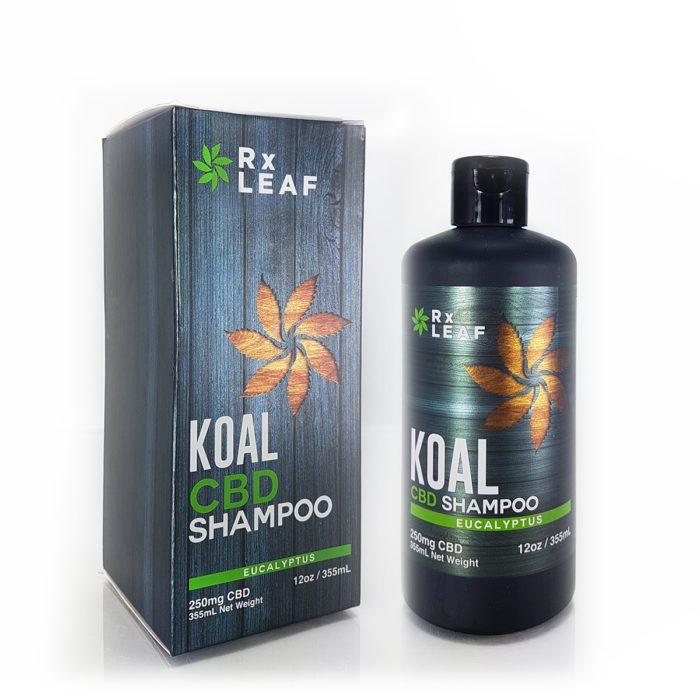 CBD shampoo by RxLeaf bottle and box