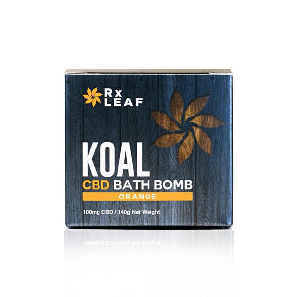 cbd bath bomb orange scented box