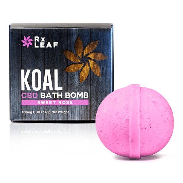 Koal Cbd bath bomb Sweet Rose 1