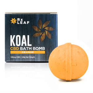 Koal Cbd bath bomb orange 1