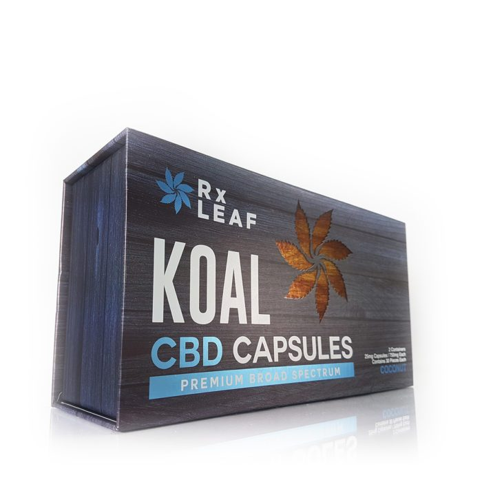 CBD Capsules double pack box by RxLeaf