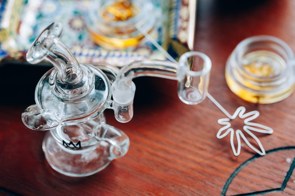 dabbing rig ready to go