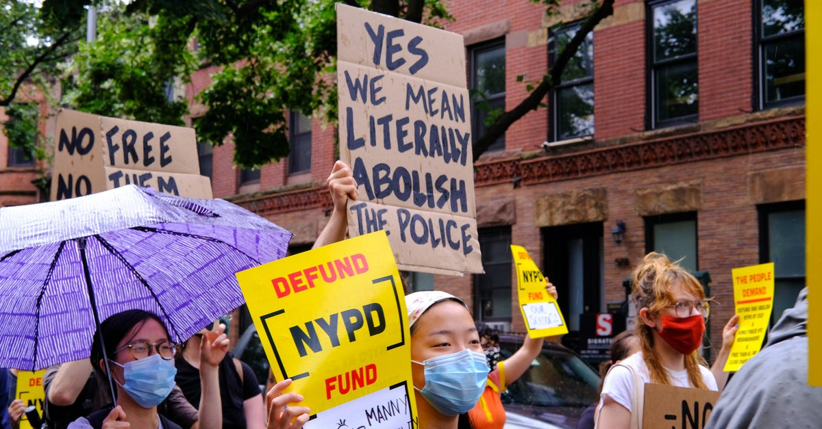 police funding represented by abolish police protesters