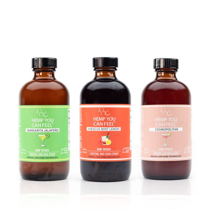 Hemp You Can Feel Cocktail Mixers 3 flavours