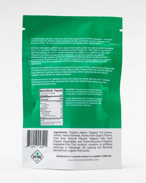 CBD organic gummies hemp you can feel