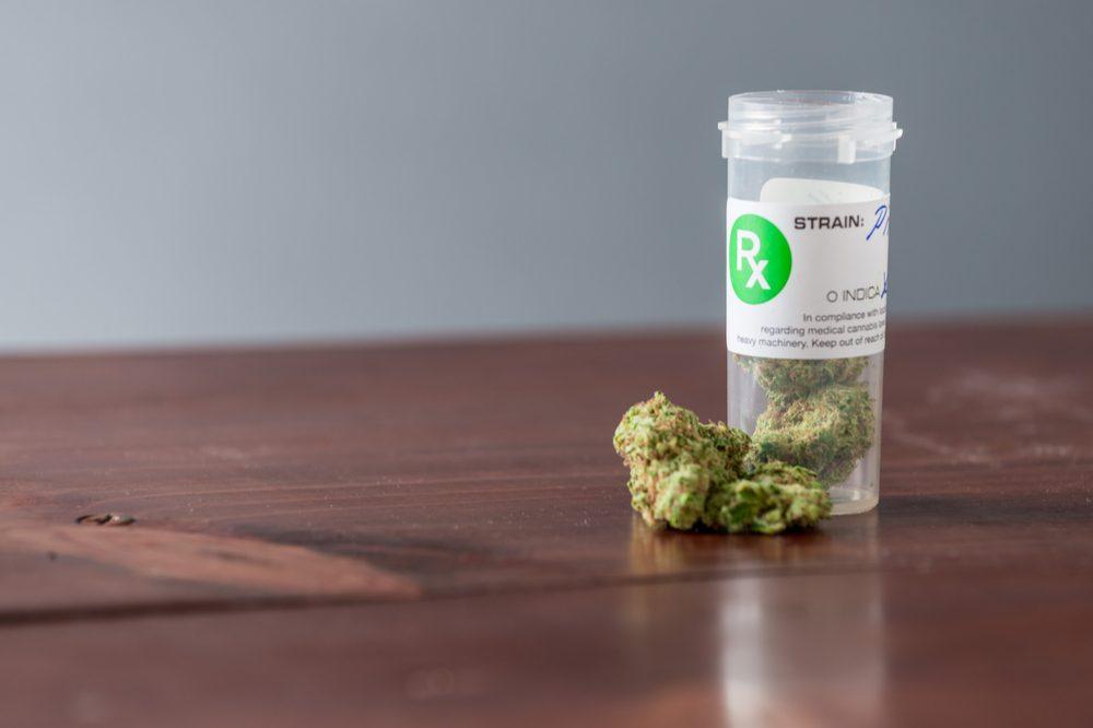 mislabelling represented by cannabis in jar with label