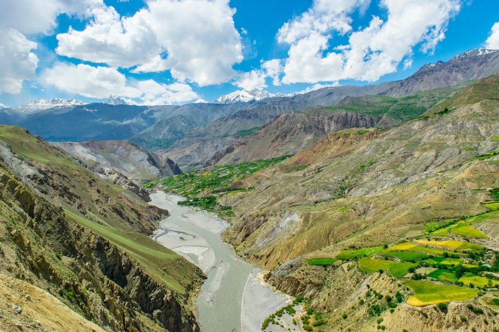 what is kush represented by hindu kush region view from clifftop