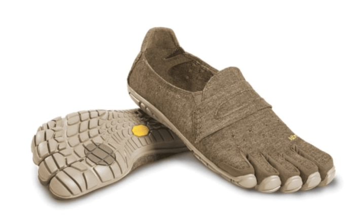 the ugly hemp toe shoes pictured