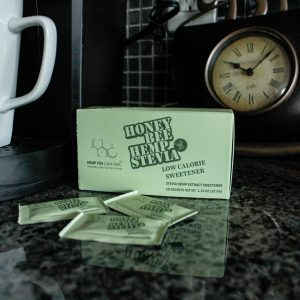 Stevia infused with hemp honey package